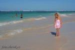 na pláži v Karibiku