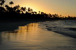 Slunce na pláži v Dominikánské republice