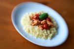 losos s cherry rajčátky a bazalkou